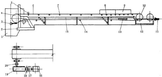 混凝土搅拌站皮带输送机结构示意图及布置方式